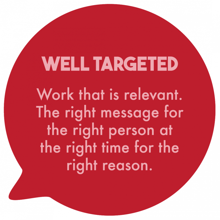 Well targeted
